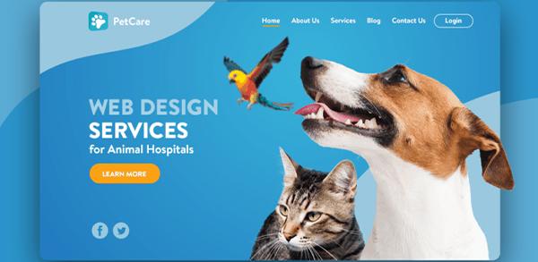 diseño web clínica veterinaria