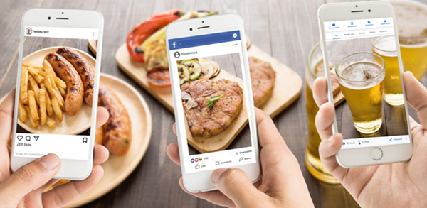 redes sociales bares restaurantes